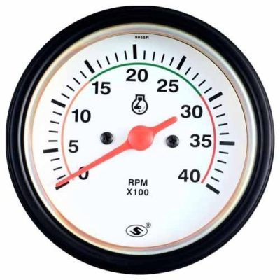 Wireless Tachometer White Diesel Gauge