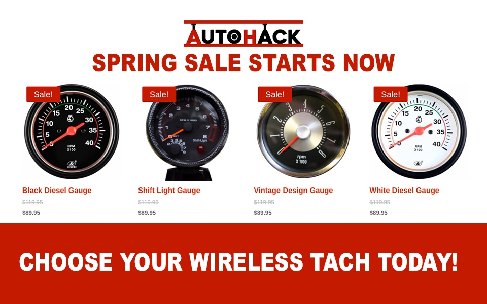 Wireless Tach Spring Sale